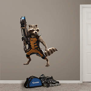 Rocket Raccoon Fathead Wall Decal